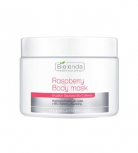 2 in 1 Raspberry Body Mask malinowy koncentrat do ciała z bio-kofeiną z guarany 600g
