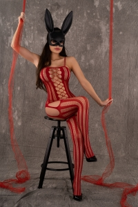 Bodystocking Almas Red