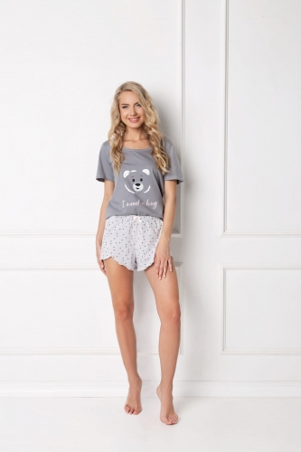 Aruelle Piżama Huggy Bear Short Grey